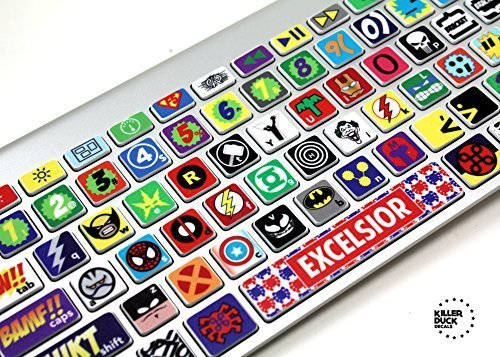 Macbook Keyboard Super Hero Skin / Vinyl Decals