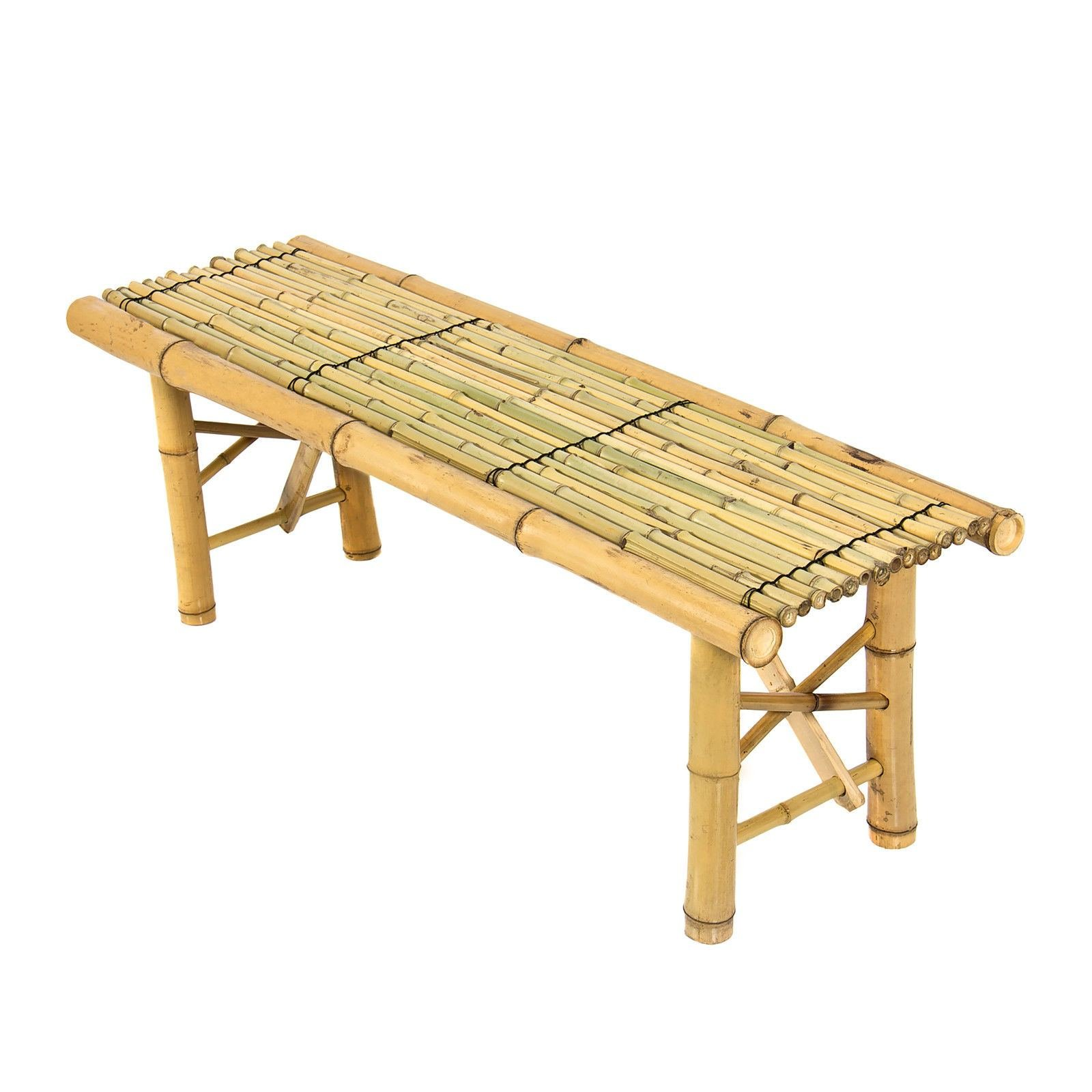 Super Buy Prosource Tiki Bamboo Bench Tropical Coffee Table For Theyellowbook Wood Chair Design Ideas Theyellowbookinfo