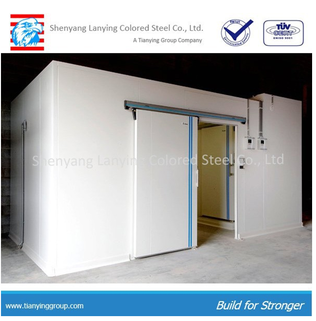 polyurethane heat insulated sandwich panel used for cold room