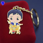 Factory High Quality Custom Gold Metal Plating Keychain Keyring for Gift
