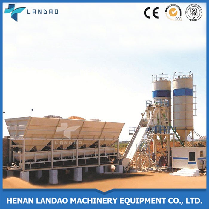 Philippine Products Beton Mixing Plant 35m3/h with aggregate bins