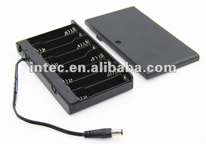 8AA battery holder with DC plug leads, 8AA Battery Box, 8AA Battery Case
