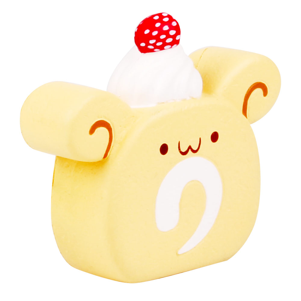 Hot Sale Squishy Cute Emulational Food Bear Head Cake Pu Slow Rising Stress Ball Toys For Kids And Adults