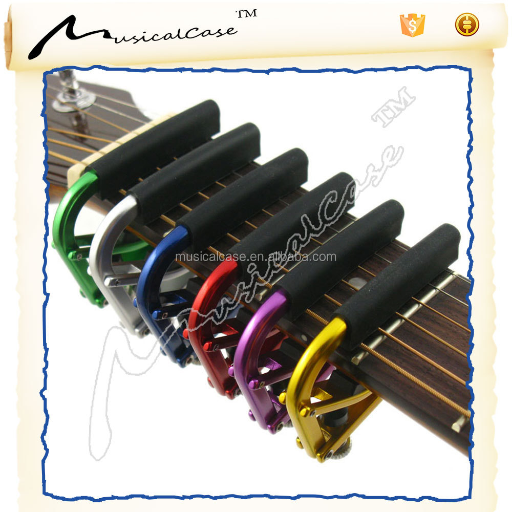 Base supporting multifunctional acoustic guitar with capo and good guitar capo of lron capo classical guitar