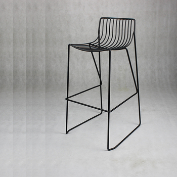Triumph Stackable Steel Mesh Frame Bar Stools Outdoor Patio Furniture Silla Metal Chair Italian