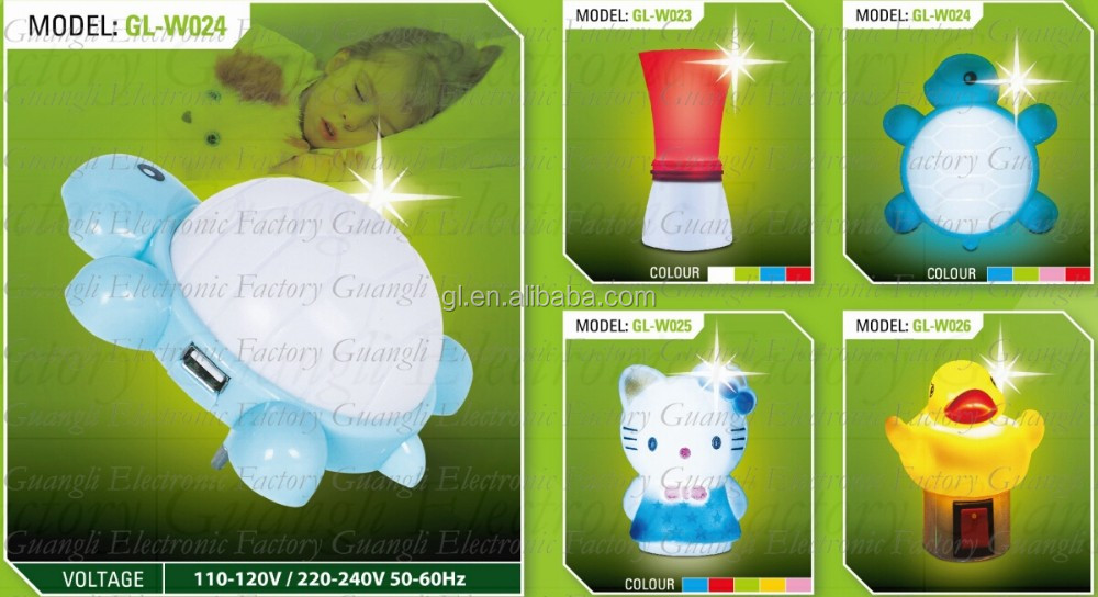 OEM W085 4SMD mini switch plug in cat with bowtie night light For Baby Bedroom cute gift wall decoration