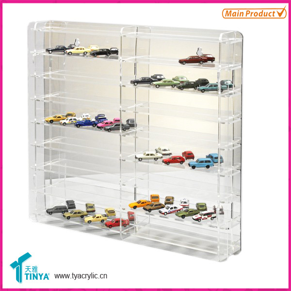 Toy Car Case : New products clear glass toy car display box acrylic
