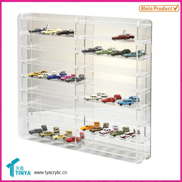 Custom 8-step Transparent Glass Car Model Display Cabinet ...