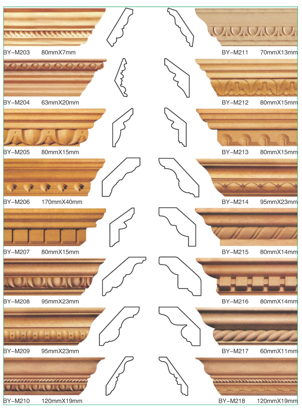 Perfect Decorative Wood Trim Chinese Wood Moulding