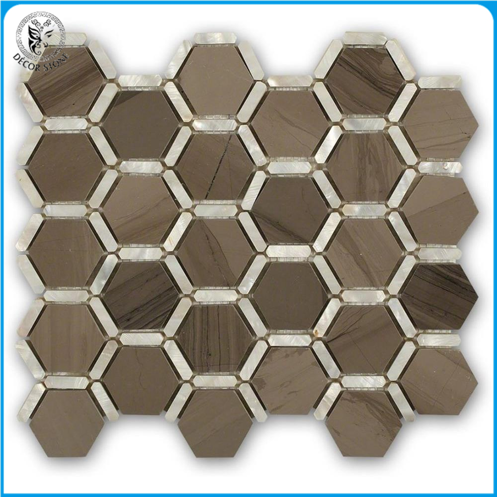 Decorstone24 Great Design Hexagon Bathroom Mosaic Wall Tiles With Good Price