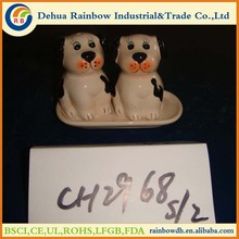 Colored ceramic salt and pepper shaker wedding favors