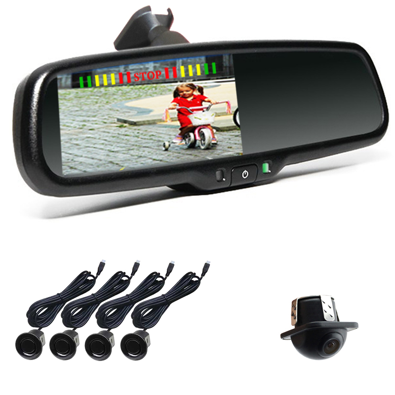 Car Parking Sensor For Toyota Prius With 4 3 Inch Lcd Display Rearview Mirror