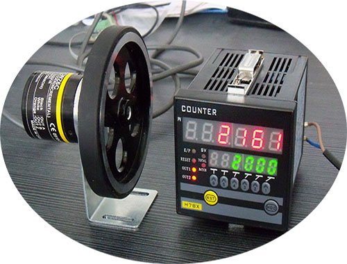 Addition and Subtraction High Precision Meter Counter + 1000p/r Rotary Encoder + Meter Wheel Set