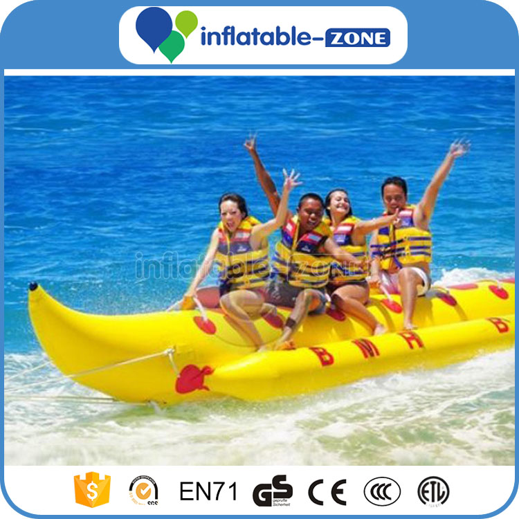 Venta caliente de plátano inflable flotador, PVC flotante barco de ...