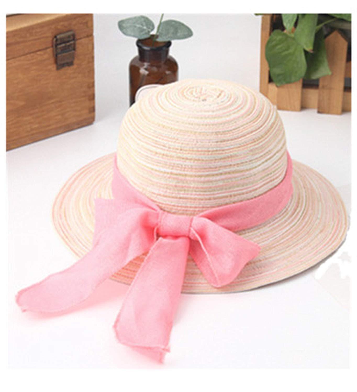 f164545d4c5 Get Quotations · Women Summer Hats Ladies Big Ribbon Bow Straw Hats  Foldable Panama Beach Sun Hats Female Sun