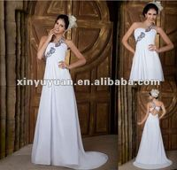 2012 Really sample One-shoulder back open chiffon evening dress XYY04-136