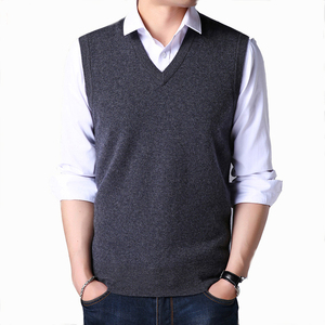 Men's Woolen Sweaters Turkey Pullover V Neck Wool Vest