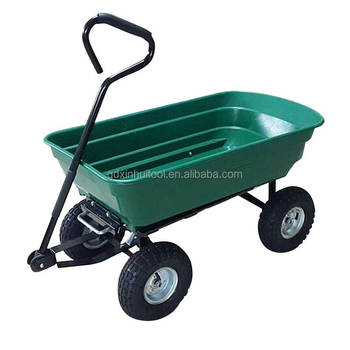 Lovely Gorilla Carts Poly Garden Dump Cart With Steel Frame And 10u0026quot; Pneumatic  Tires With A