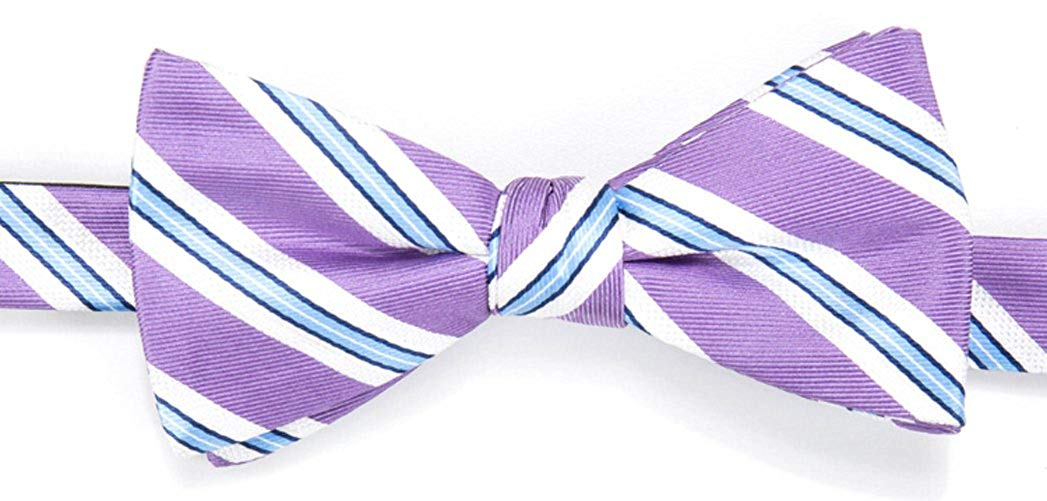 222ab8373ea1 Get Quotations · Chaps Men's Naomi Striped Patterned Pre-Tied Bowtie Tie
