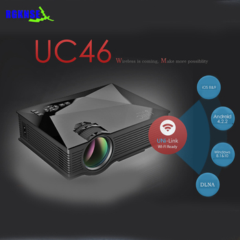 Uc 46 Wifi Wireless Mini Hologram Projector,1200 Lumens Latest Projector  Mobile Phone - Buy Mini Projector,Hologram Projector,Latest Projector  Mobile