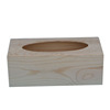 Direct factory supply unfinished wooden tissue box