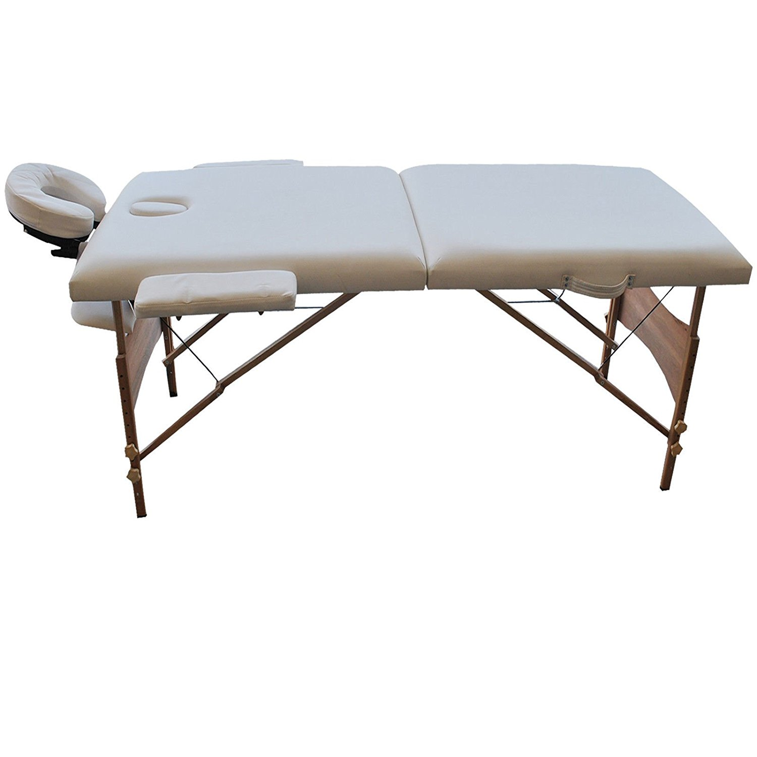 "84"" L portable massage white table facial spa bed tattoo free carry case white new"