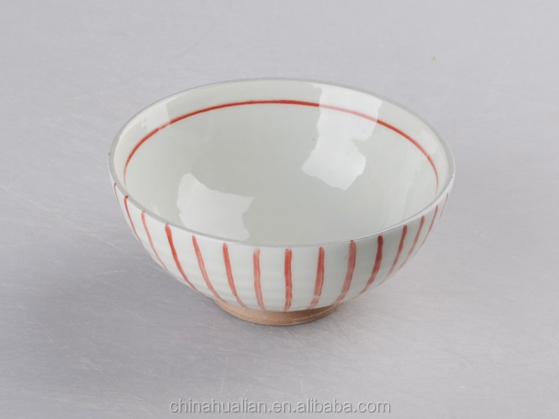 "2015 best selling products 4.5"" red round a rice bowl,ceramic ice cream bowl,nice bowl"