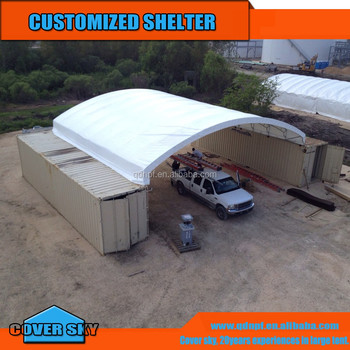 Shipping Container Garage Roof Storage Tent