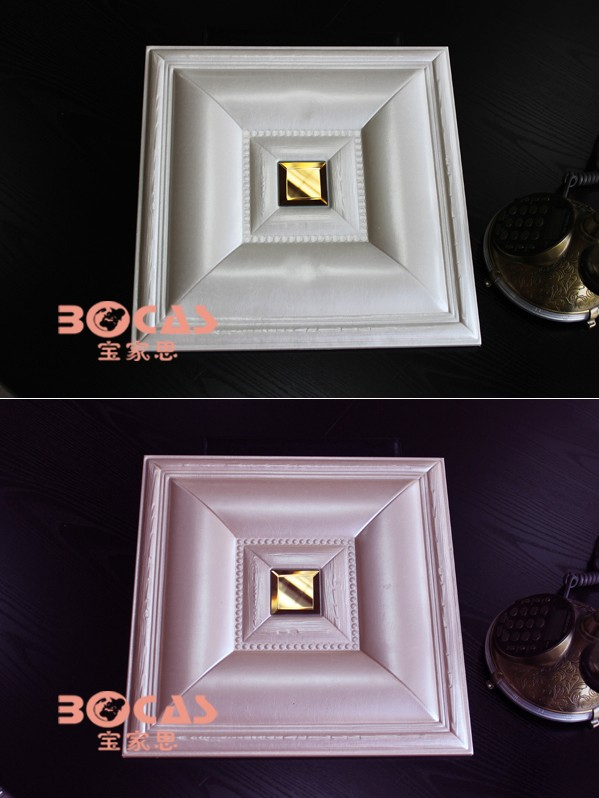 2016 Newly Design Deep Embossed Leather Simple Pop Ceiling Design ...