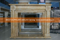 MBY208 Henan Yellow Marble Artificial Fireplace Mantel Sale Fireplace