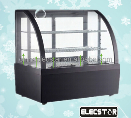 free standing/counter top single electric display refrigerator, Deli Case, display cake refrigerator showcase