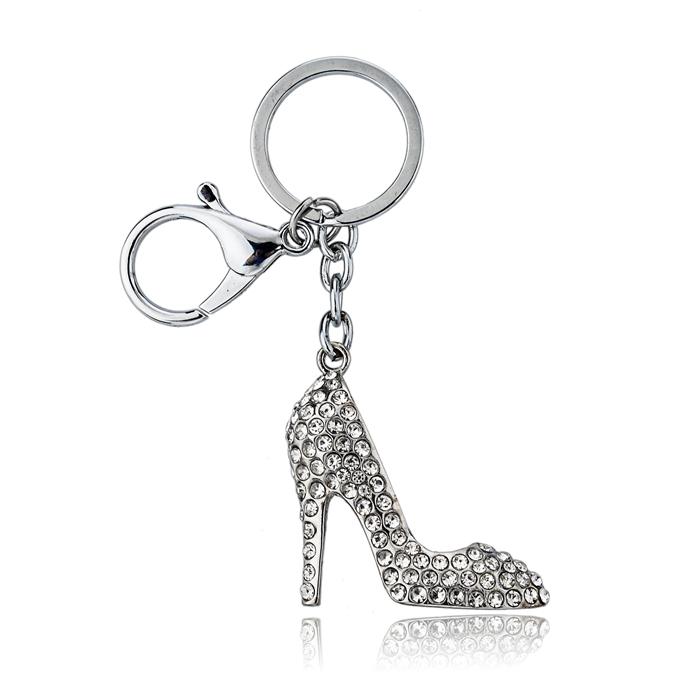 Rhinestone High Heel Shoe Keychain
