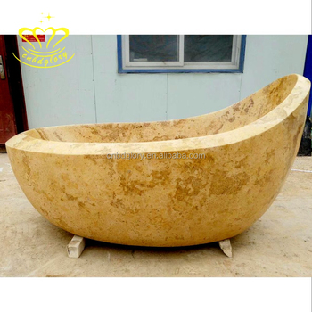 New Product Customizable Home Bathroom Decoration Marble Stone Bathtub