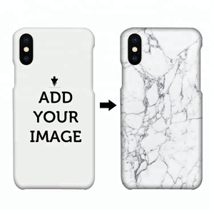 For iPhone X Custom Printing Design Marble Case Wholesale Heat Transfer 3D Blank Sublimation Plastic Case