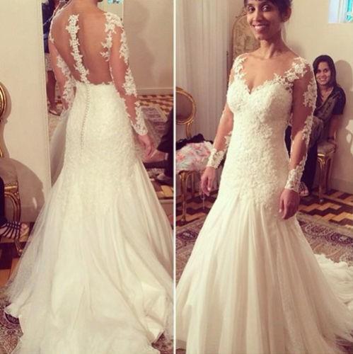 Venta al por mayor vestidos de novia elegantes corte sirena-Compre ...