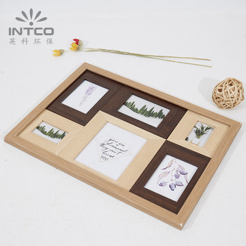 700805089cd7 INTCO New Arrival Multi Wood Photo Picture Collage Frames Set, View ...