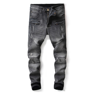 Factory Price Denim Jeans Mens Biker Jeans With Zipper Denim Jeans In Dubai With Price Made In China