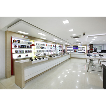 Mobile phone shop furniture for shop with led light design for Mobile furniture design