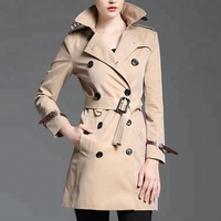 Inquiries For Free Samples Does Not Fade Trench Coat Women Long Coat