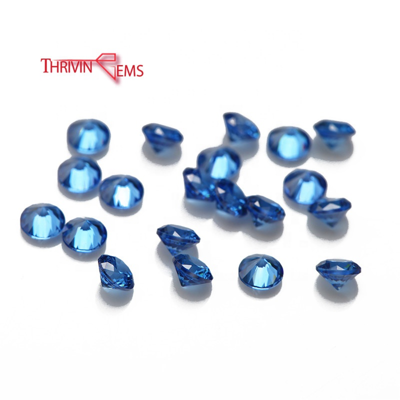 Blue Topaz Wholesale Price Wuzhou AAAAA Grade Cubic Zirconia Loose Gemstone For Free Sample