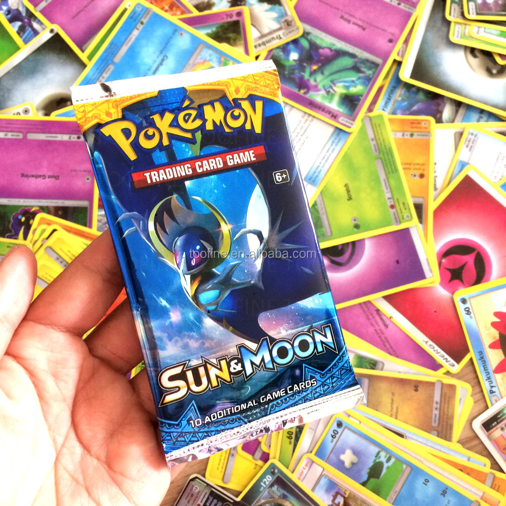 Pokemon 360 sun and moon pokemon cards box in 10 cards pack with 36 pokemon boosters