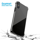 For iphone 9 plus/X/7/8 Clear TPU Case High Quality Crystal Transparent Phone Case Back Cover
