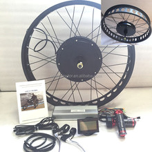48v/60v 1500w electric bicycle rear hub motor conversion kit with fat ebike tire