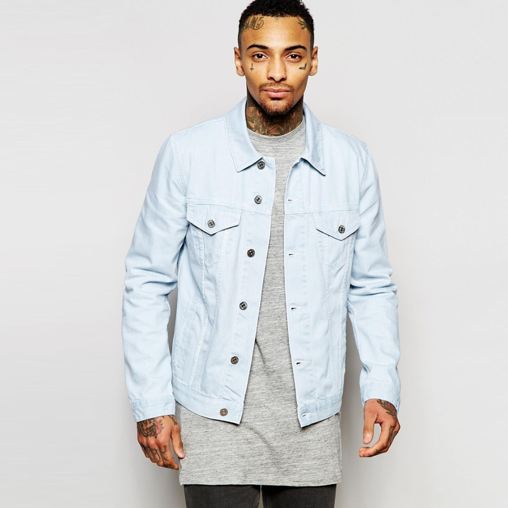Find and save ideas about Denim jacket men on Pinterest. | See more ideas about Men denim jacket outfit, Men's street style jacket and Men's casual fashion denim jacket. Men's Light Blue Denim Jacket, White Tank, Dark Brown Sunglasses, Black Overalls, and Black Leather Derby Shoes. Find this Pin and more on Men's Look of the Day by Lookastic.