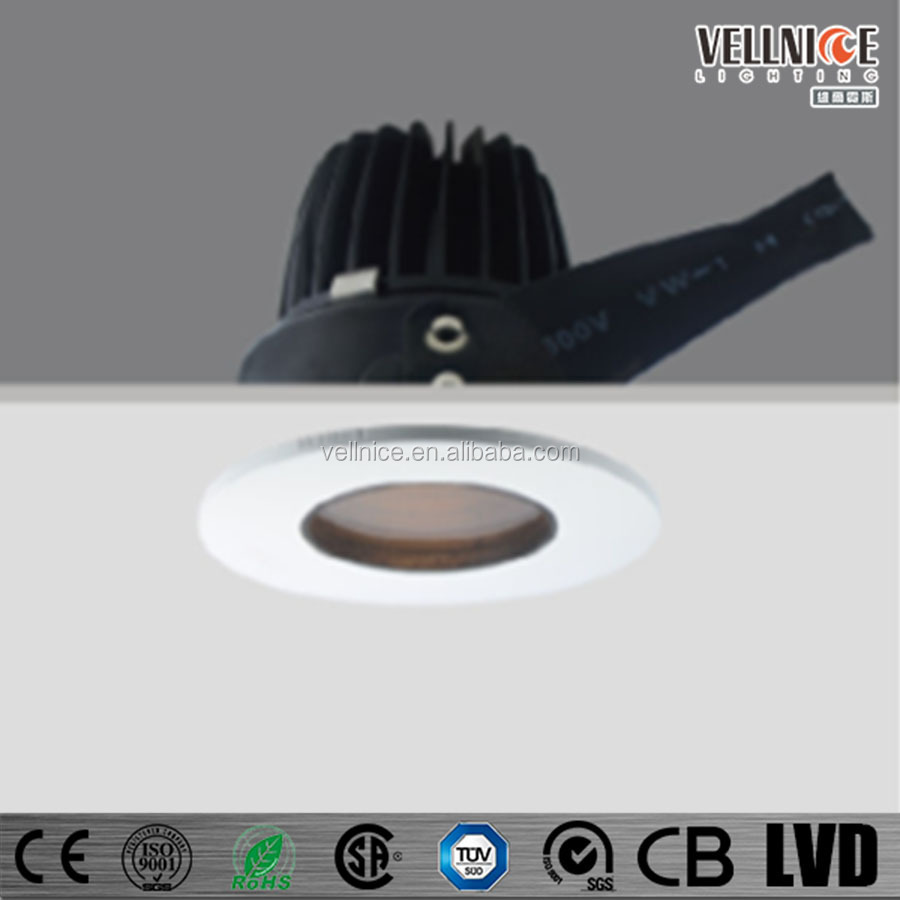 Vellnice IP65 adjustable recessed IP65 10W LED DOWNLIGHT waterproof Bathroom 10W LED downlight for indoor and shower areas