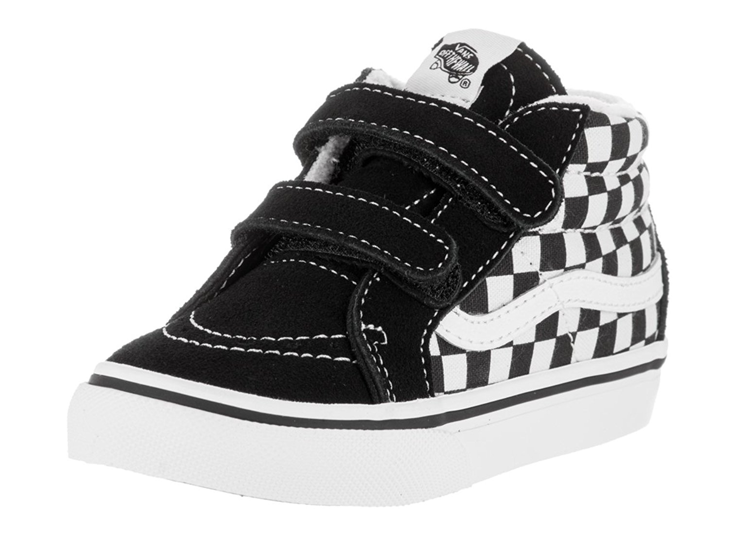 0993a67de5 Get Quotations · Vans Toddler Sk8-Mid Reissue V (Checkerboard) Skate Shoe