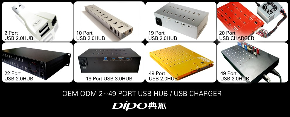 2 port usb hub extended 15 meters signal support the power converter