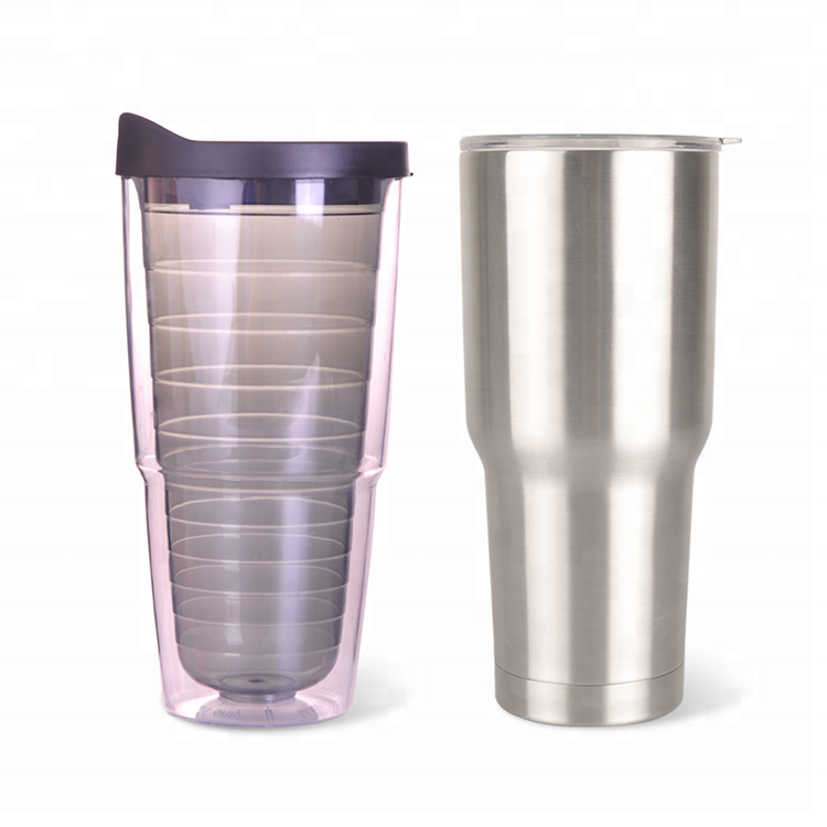 16oz double wall plastic tumbler mug 450ml coffee tumbler
