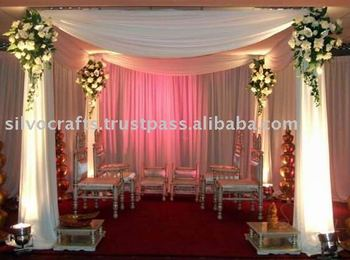 Fiber Wedding Mandap Decoration With Plain Fiber Pillars Buy White Fiber Wedding Mandap Decoration Wedding Mandap Mandap Decoration Furniture