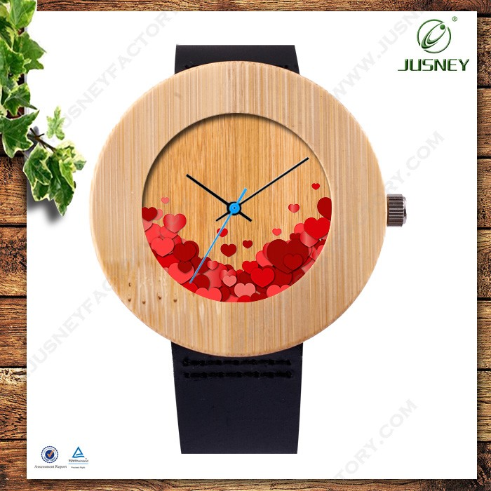 China factory wholesale best price diamond 100% real wood watches with women